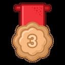 Bronze Medal Prize Icon