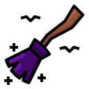 Broom Magic Witchcraft Icon
