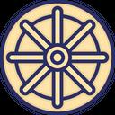 Buddhism Wheel Of Dharma Dharma Icon