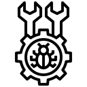 Bug Repair Setting Gear Icon