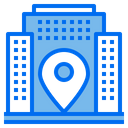 Pin House Building Icon