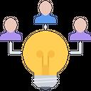 Bulb Idea People Icon