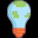 Bulb earth Icon