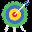 Bullseye Dart Board Goal Icon