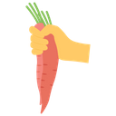 Bunch Of Carrots Salad Healthy Food Icon