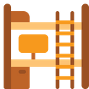 Bunk Bed With Study Table Icon