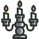 Burning Candles Halloween Icon