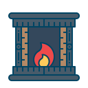 Burning Fire Stove Icon