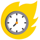 Burning Time Run Out Of Time Deadline Icon