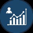 Business Analysis Data Analyst Presentation Icon