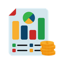 Business Analytic Business Report Business Presentation Icon