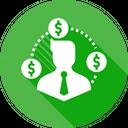 Businessman Money Dollar Icon