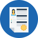 Business Employee Resume Icon