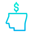 Business Mind Dollar Money Icon