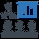 Presentation Statistics Conference Icon