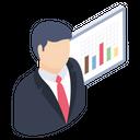Business Presentation Business Analysis Statistics Icon