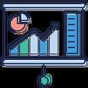 Business Presentation Graph Presentation Charting Application Icon