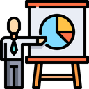 Businessman Project Manager Team Presantation Icon