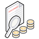 Business Research Finance Monitoring Money Search Icon