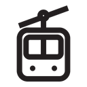 Cable Car Snow Holiday Icon