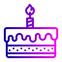 Cake New Year Celebration Icon