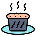 Baked Grilled Bread Icon
