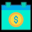Dollar Calendar Money Planning Money Schedule Icon
