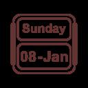 Calendar January Jan Icon