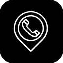 Place Location Telephone Icon