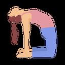 Camel Pose Icon