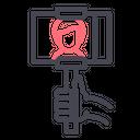 Selfie Phone Stick Icon