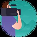 Studio Cameraman Media Person Icon