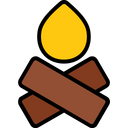 Travel Filled Camp Campfire Icon