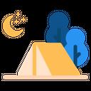 Nature Camp Night Icon