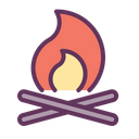 Camp Fire Flame Icon