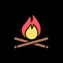 Campfire Forest Wildlife Icon