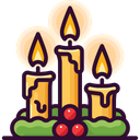 Candle Light Christmas Icon
