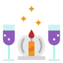 Candle Dinner Drink Icon