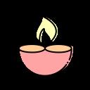 Candle Firework Diwali Icon
