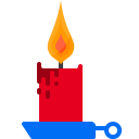Candle Flame Decoration Icon