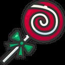 Candy Cane Dessert Stick Icon