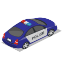 Car Police Back Icon