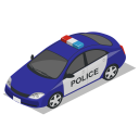 Car Police Front Icon