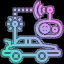 Car Radio Control Icon