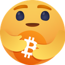 Care emoji for bitcoin Icon