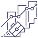 Career Graph Growth Icon