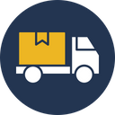 Cargo Delivery Truck Shipping Icon