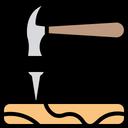 Hammer Nut Construction Icon