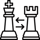 Castling King And Rook Switch King Icon