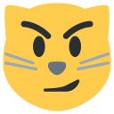 Cat Face Ironic Icon